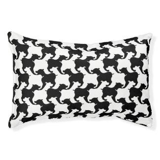 黒およびあなたの色は犬Sのベッドのシルエットを描きます スモールドッグベッド