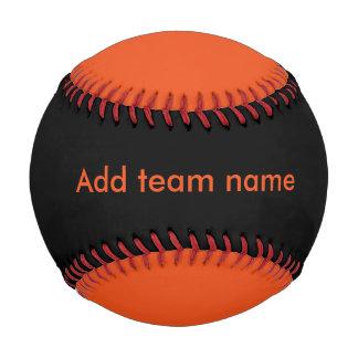 黒およびオレンジ 野球ボール