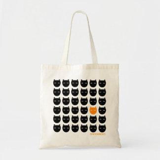 黒およびショウガ猫のバッグ トートバッグ