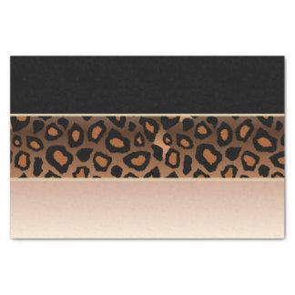 、黒およびジャガーのプリントは上がりました 薄葉紙