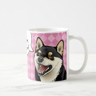 黒およびタンの柴犬の日本のな犬は愛マグです コーヒーマグカップ