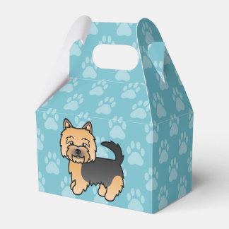 黒およびタンノリッジテリアの漫画犬 フェイバーボックス