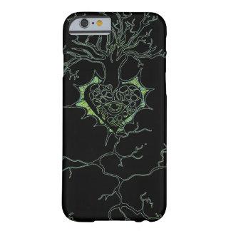 黒およびネオンの緑生命の樹 BARELY THERE iPhone 6 ケース