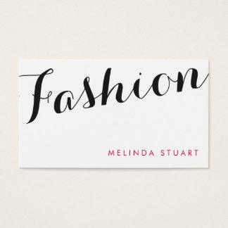 黒およびピンクのエレガントなタイポグラフィのファッションのスタイリスト 名刺