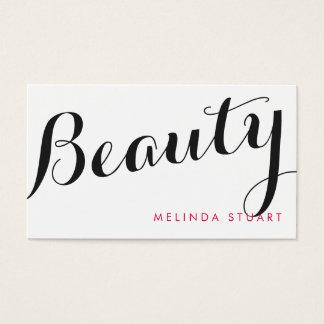 黒およびピンクのエレガントなタイポグラフィの美しいの芸術家 名刺