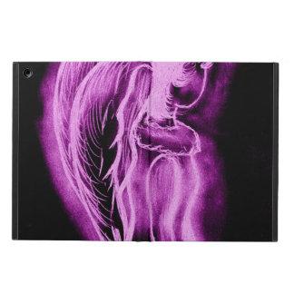 黒およびピンクの逆にされた天使 iPad AIRケース