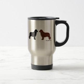 黒およびブラウンニューファウンドランド犬 トラベルマグ