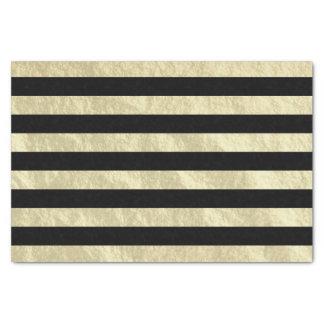 黒およびライト金ストライプなホイルの一見 薄葉紙