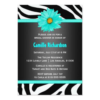 黒および水のシマウマのブライダルシャワーの招待状 カード