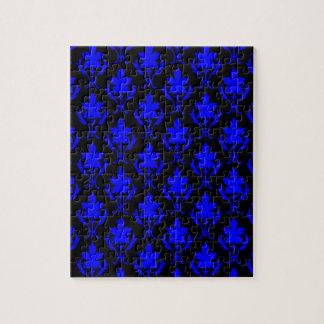 黒および濃紺の華美な壁紙パターン ジグソーパズル