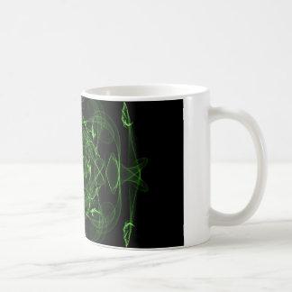 黒および緑 コーヒーマグカップ