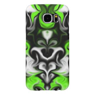 黒および緑 SAMSUNG GALAXY S6 ケース