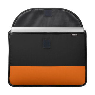 黒および蜜柑の袖 MacBook PROスリーブ