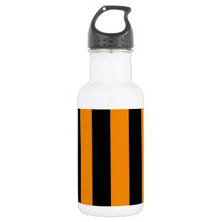 -黒および蜜柑縞で飾ります ウォーターボトル