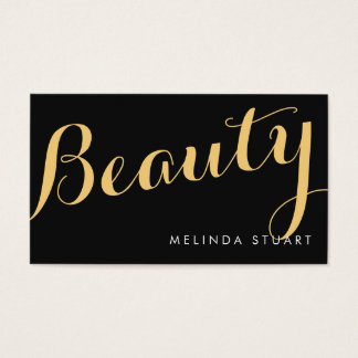 黒および金ゴールドのエレガントなタイポグラフィの美しいの芸術家 名刺