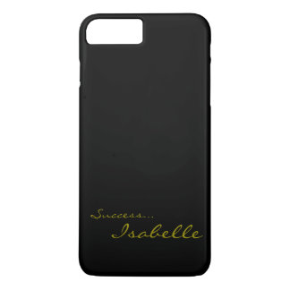 黒および金ゴールドのカスタムなモノグラムのiPhone 7 Cov iPhone 7 Plusケース