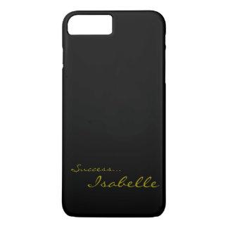 黒および金ゴールドのカスタムなモノグラムのiPhone 7 Cov iPhone 8 Plus/7 Plusケース