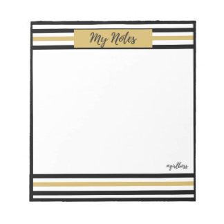 黒および金ゴールドのテーマの私のノート ノートパッド
