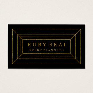 黒および金ゴールドの宝石用原石のシックな名刺 名刺