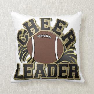 黒および金ゴールドの応援のリーダーのカスタマイズ可能な枕 クッション