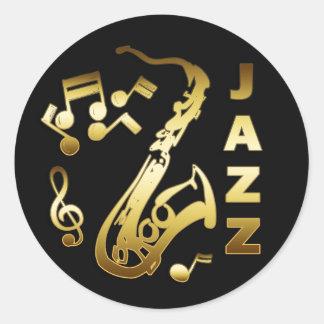 黒および金ゴールドジャズ ラウンドシール