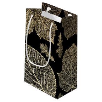 黒および陸軍少佐の階級章の秋の結婚式 スモールペーパーバッグ