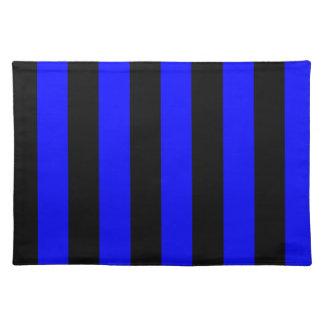 -黒および青縞で飾ります ランチョンマット