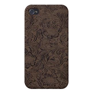 黒かブラウン用具のレザールックのプリントのiPhone 4 Speck iPhone 4/4Sケース
