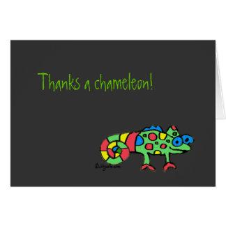 黒がNotecards感謝していしているカメレオンを感謝していしています カード