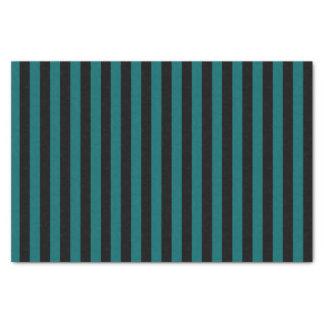 黒くおよび暗い水の青い縞 薄葉紙