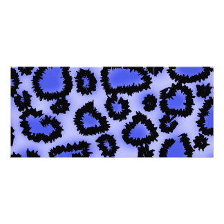 黒くおよび紫色青のヒョウのプリントパターン ラックカード