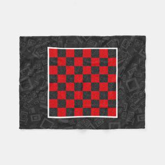 """黒くおよび赤いチェッカーボードのフリースブランケット、30"""" x40 """" フリースブランケット"""