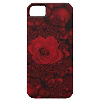 黒くおよび赤いバラのフラクタルのiphoneの場合 iPhone SE/5/5s ケース