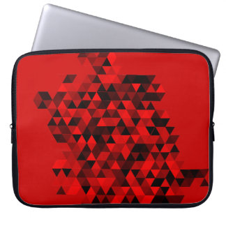 黒くおよび赤い三角形パターン ラップトップスリーブ