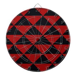 黒くおよび赤い三角形 ダーツボード