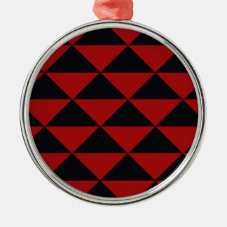 黒くおよび赤い三角形 メタルオーナメント