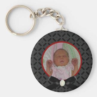 黒くおよび赤い写真Keychain キーホルダー