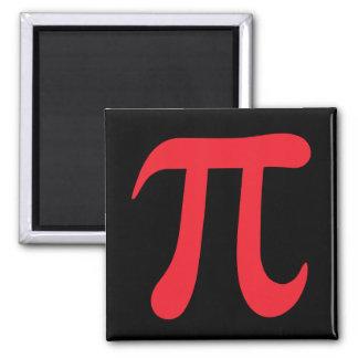 黒くおよび赤い数学piの記号の磁石 マグネット