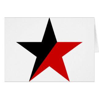 黒くおよび赤い星のAnarcho Syndicalismのアナキズム カード