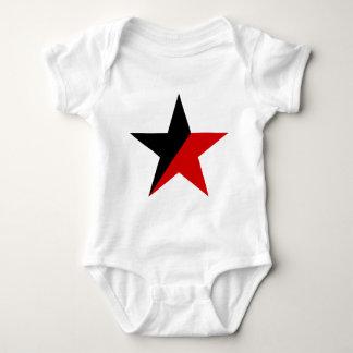 黒くおよび赤い星のAnarcho Syndicalismのアナキズム ベビーボディスーツ