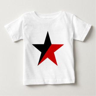 黒くおよび赤い星のAnarcho Syndicalismのアナキズム ベビーTシャツ