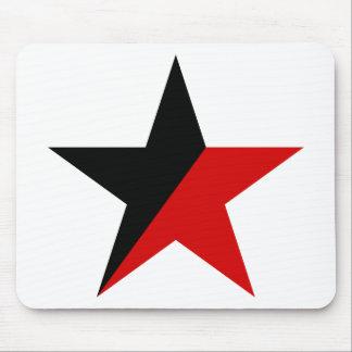 黒くおよび赤い星のAnarcho Syndicalismのアナキズム マウスパッド