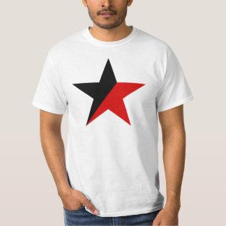 黒くおよび赤い星のAnarcho Syndicalismのアナキズム Tシャツ