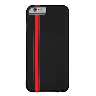 黒くおよび赤い競争のストライプなiPhone6ケース Barely There iPhone 6 ケース