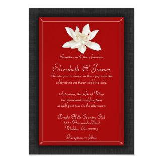 黒くおよび赤い結婚式招待状 12.7 X 17.8 インビテーションカード