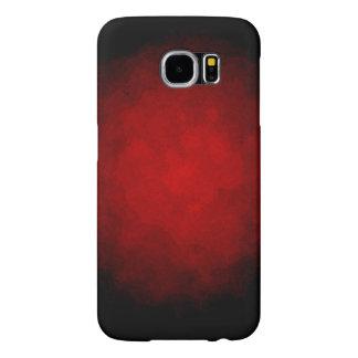 黒くおよび赤い銀河系S6の箱 SAMSUNG GALAXY S6 ケース