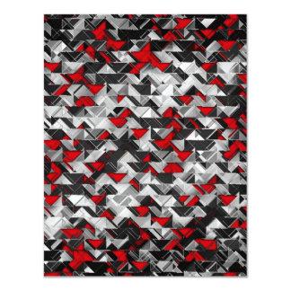 黒くおよび赤く幾何学的な爆発 カード