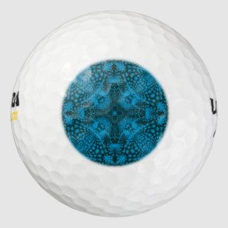 黒くおよび青のウイルソン超500の間隔のゴルフ・ボール ゴルフボール