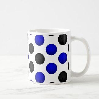 黒くおよび青のバスケットボールパターン コーヒーマグカップ