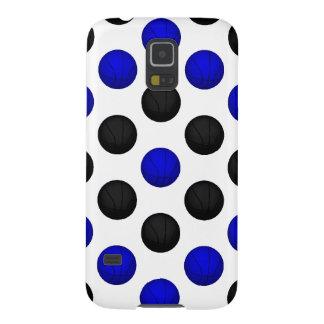 黒くおよび青のバスケットボールパターン GALAXY S5 ケース